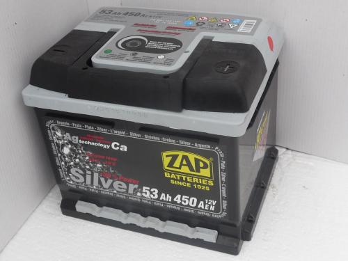 Autobaterie ZAP SILVER 12V 53 Ah 450 A