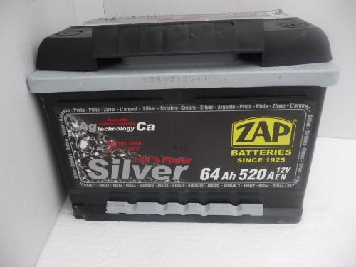 Autobaterie ZAP SILVER 12V 64 Ah 520 A
